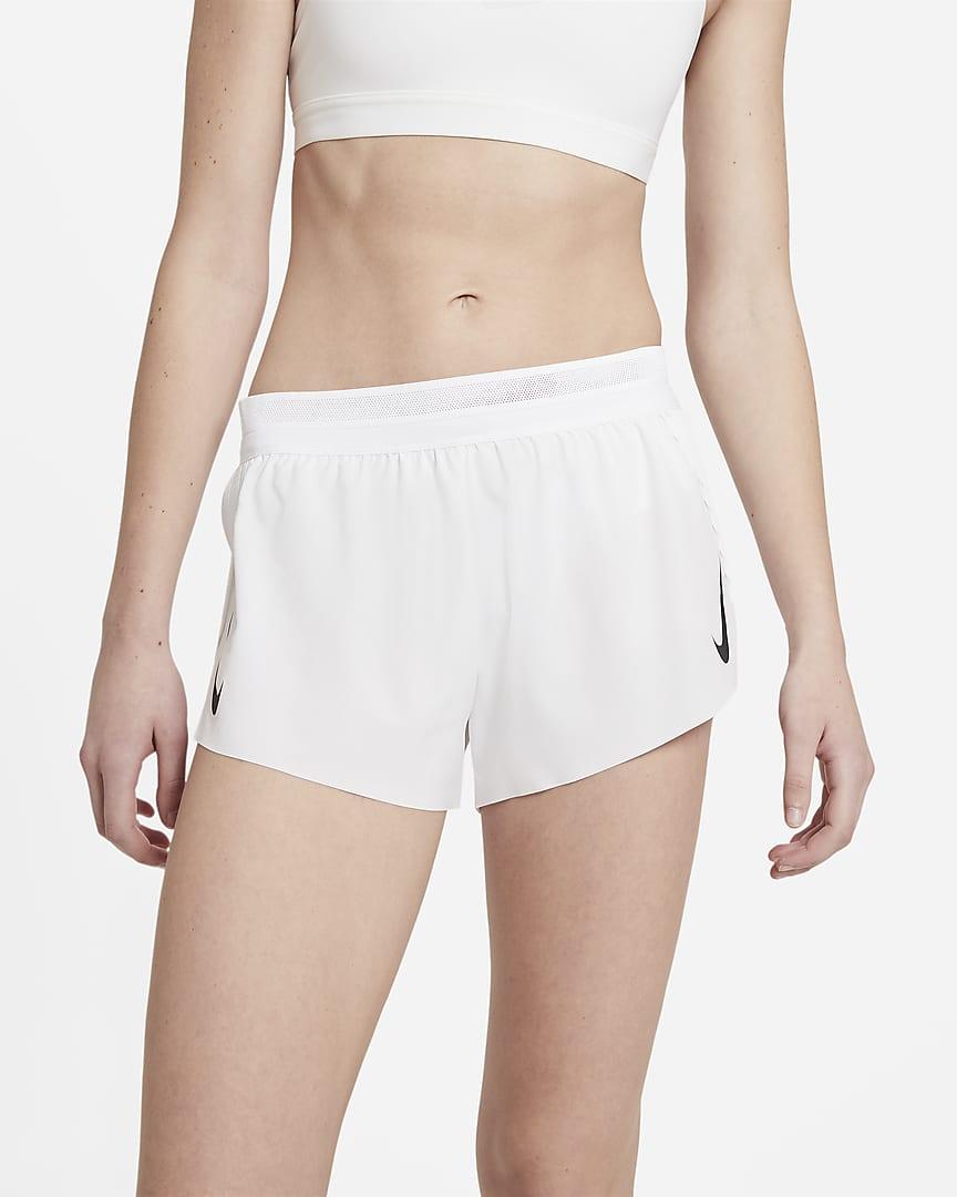 Nike AeroSwift Women\'s Running Shorts White/Black