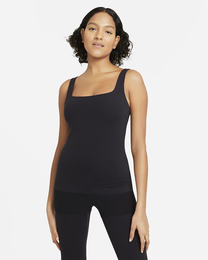 Nike Yoga Luxe Women\'s Shelf-Bra Tank Black/Dark Smoke Grey