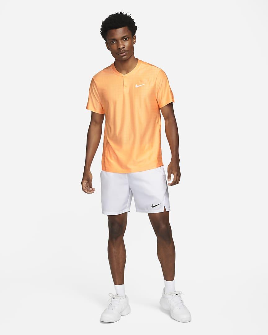 NikeCourt Dri-FIT Advantage Men\'s Tennis Polo Peach Cream/Peach Cream/White