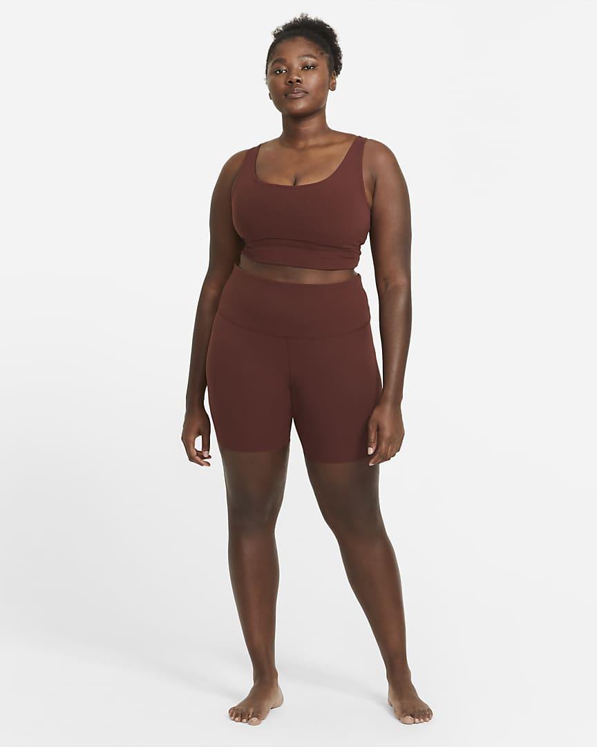 Nike Yoga Luxe Women\'s Infinalon Cropped Tank (Plus Size) Bronze Eclipse/Smokey Mauve