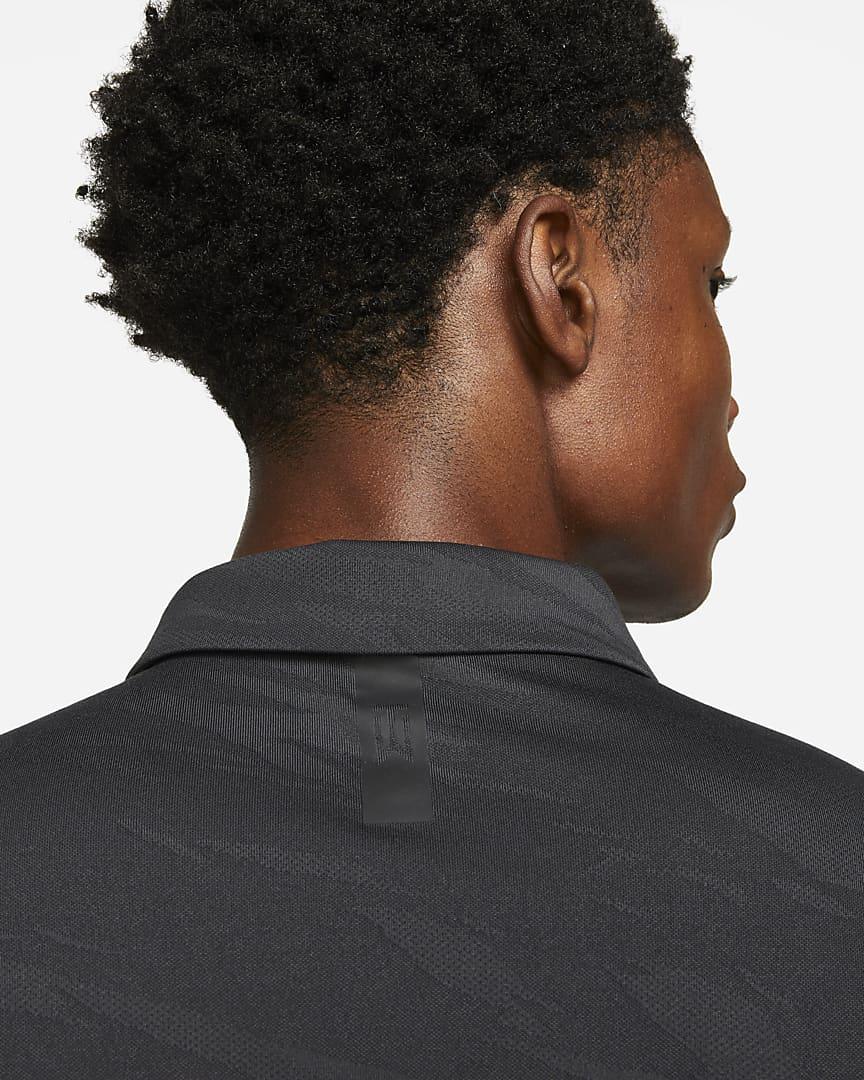 Nike Dri-FIT ADV Tiger Woods Men\'s Golf Polo Dark Smoke Grey/White
