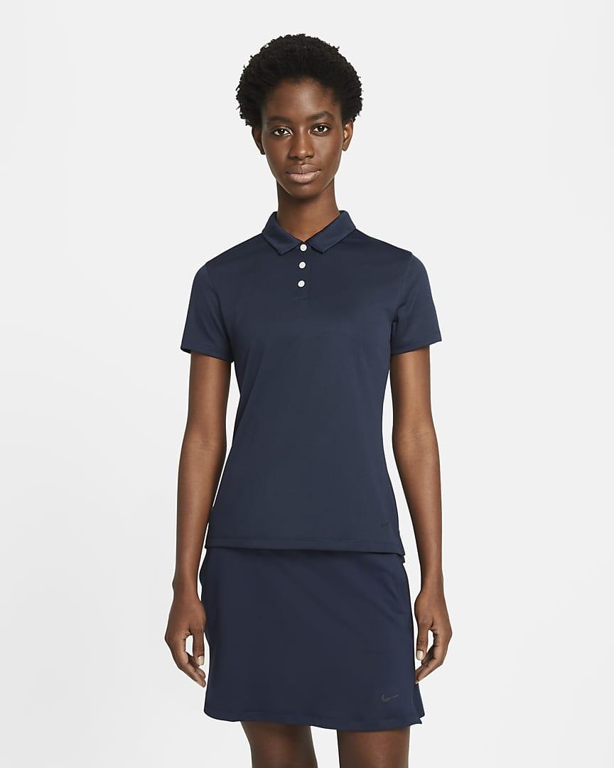 Nike Dri-FIT Victory Women\'s Golf Polo Obsidian/Black/Black
