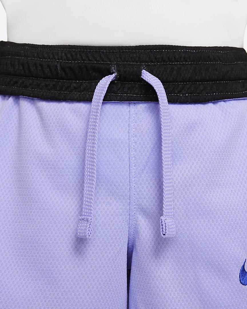 Nike Dri-FIT Elite Big Kids\' (Boys\') Basketball Shorts Purple Pulse/Lapis