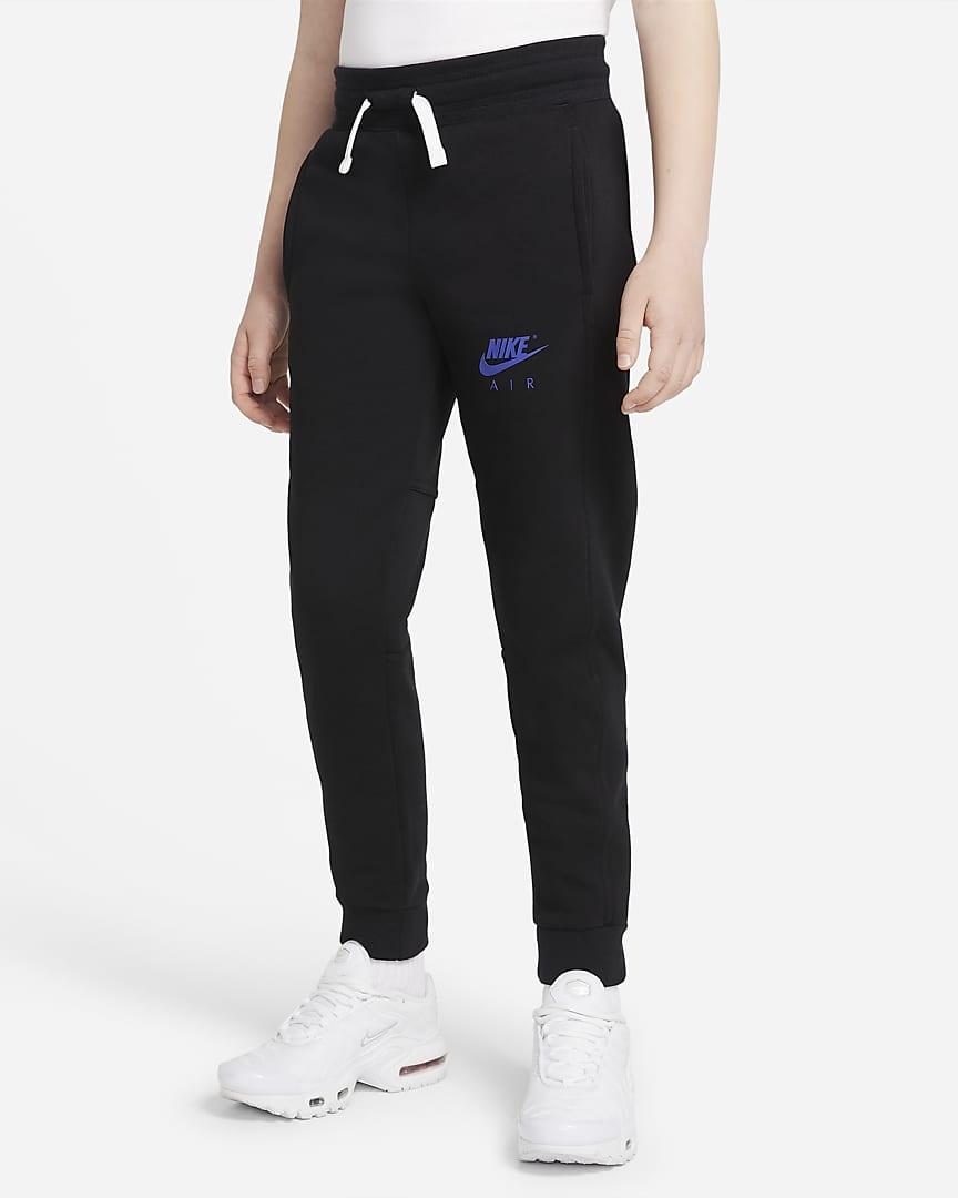 Nike Air Big Kids\' (Boys\') Pants Black/Rush Violet