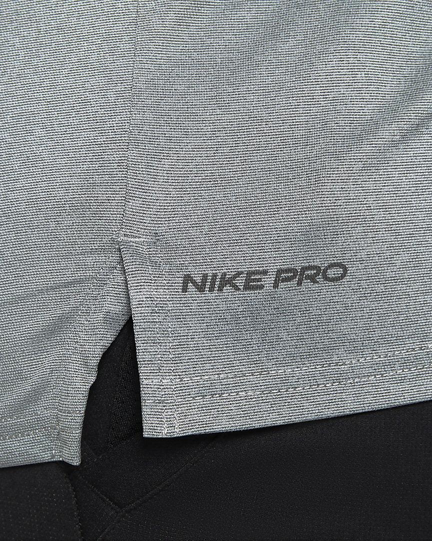 Nike Pro Dri-FIT Men\'s Short-Sleeve Top Black/Smoke Grey/Heather/Black