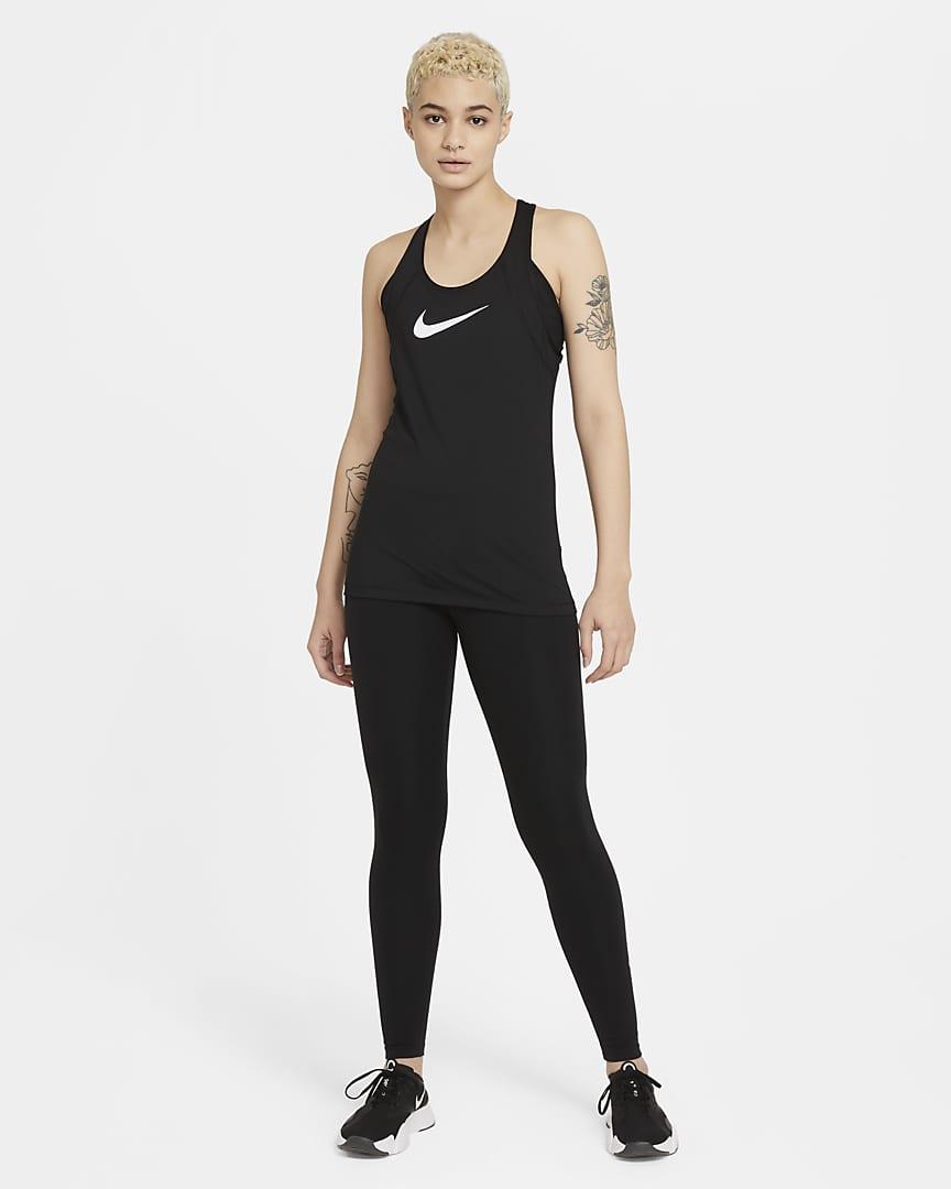 Nike Pro Women\'s Mesh Tank Black/White