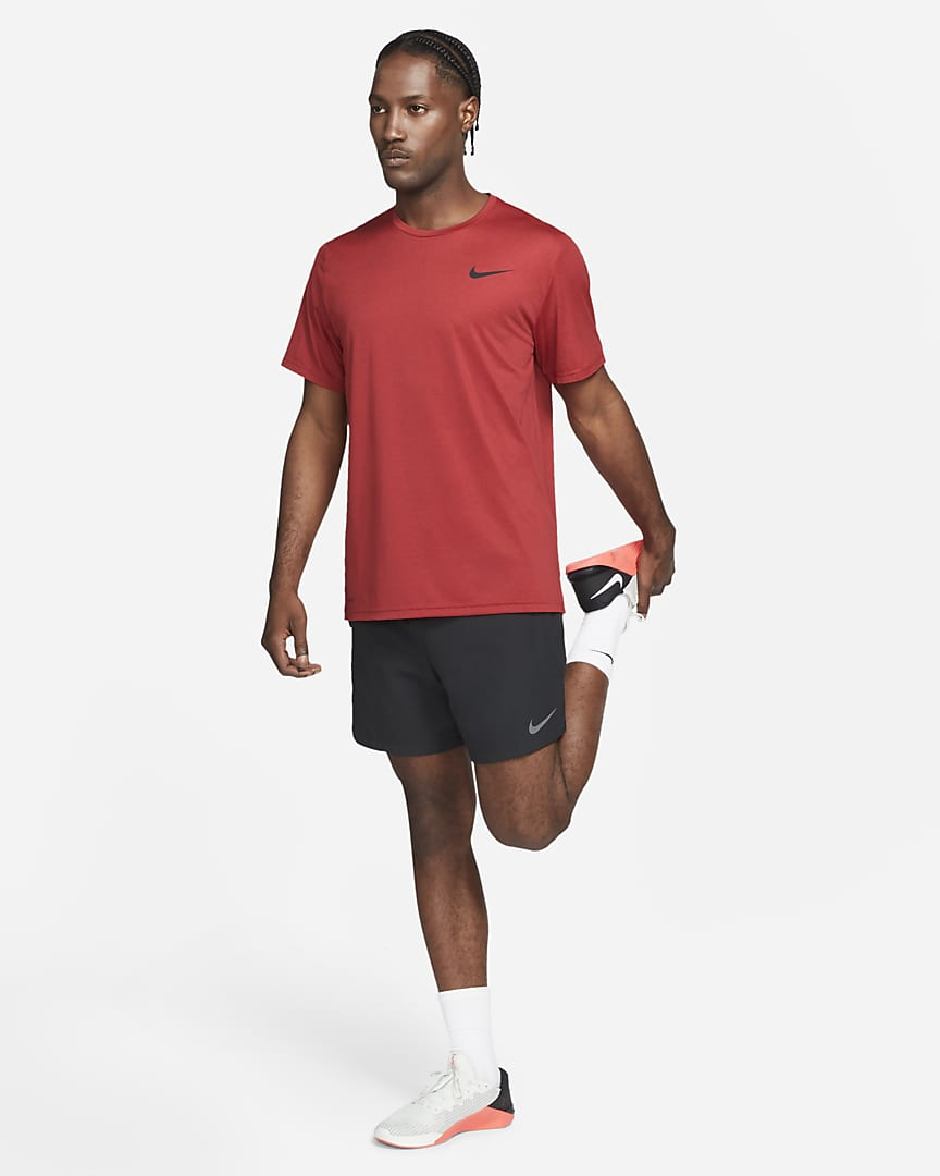 Nike Pro Dri-FIT Men\'s Short-Sleeve Top Team Red/University Red/Heather/Black