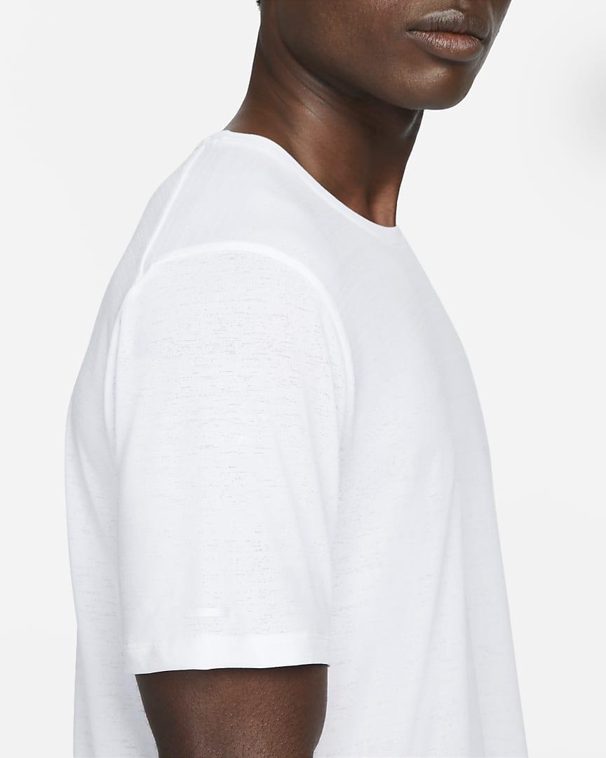 Nike Dri-FIT Miler Men\'s Running Top White