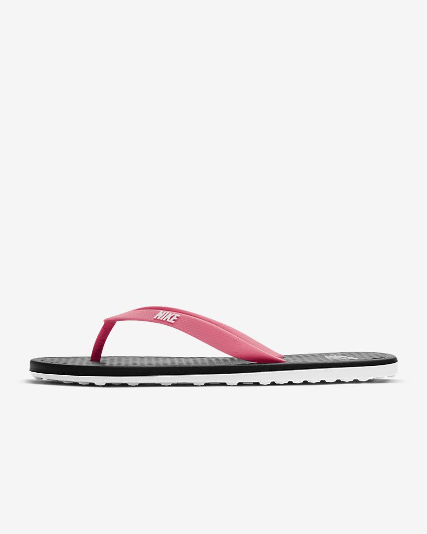 Nike On Deck Women\'s Flip Flop Black/Sunset Pulse/White