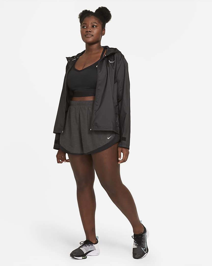 Nike Tempo Women\'s Heathered Running Shorts (Plus Size) Black Heather/Black/Black/Wolf Grey