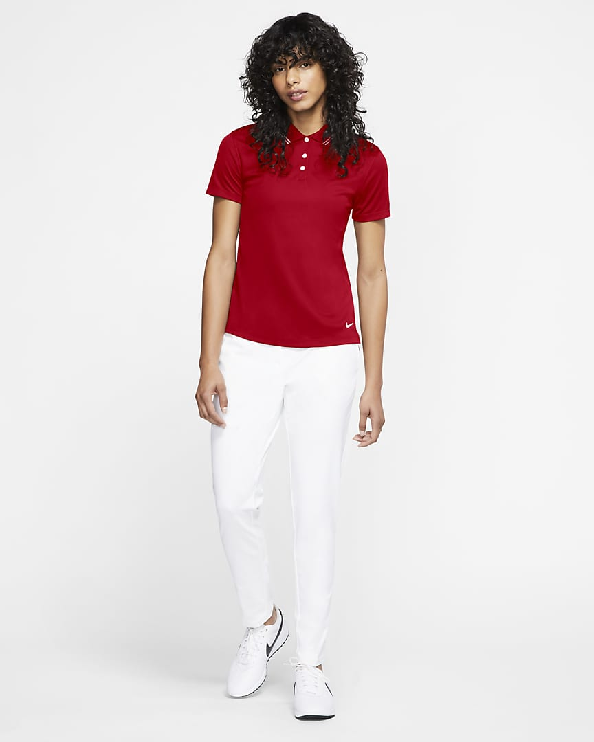 Nike Dri-FIT Victory Women's Golf Polo University Red/White/White