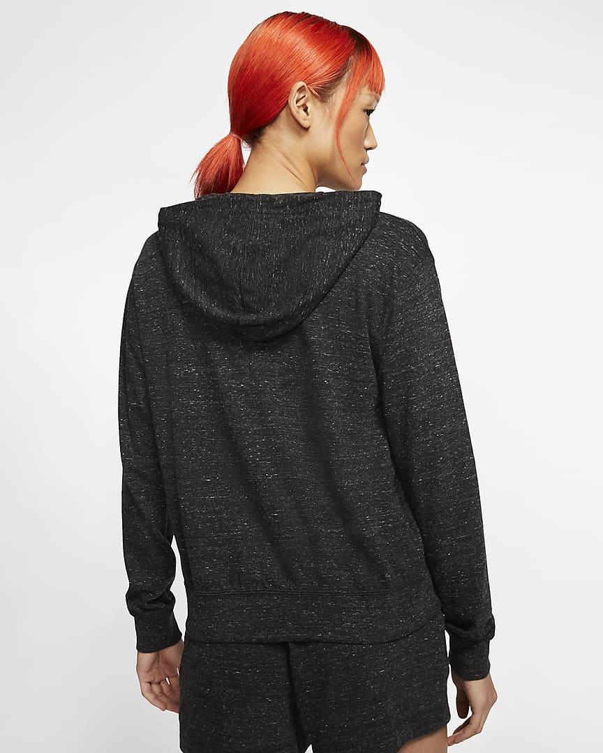 Nike Sportswear Gym Vintage Women\'s Full-Zip Hoodie Black/Sail