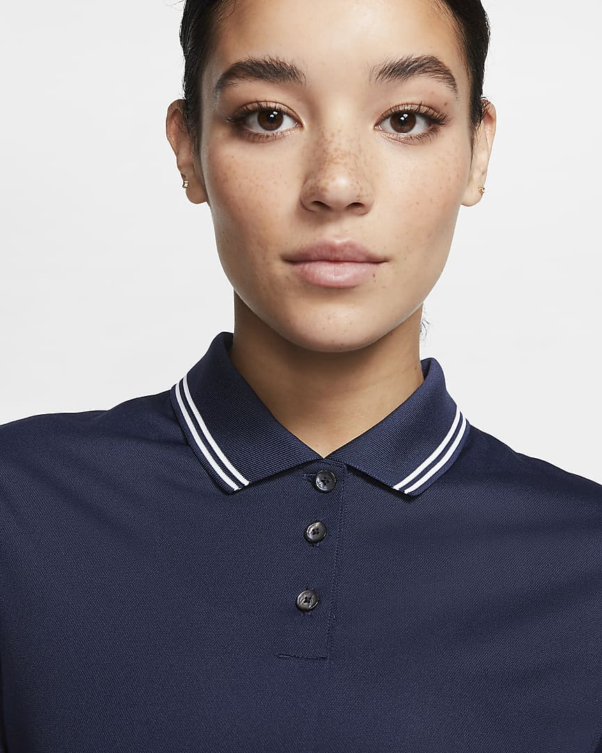 Nike Dri-FIT Victory Women's Golf Polo College Navy/White/White