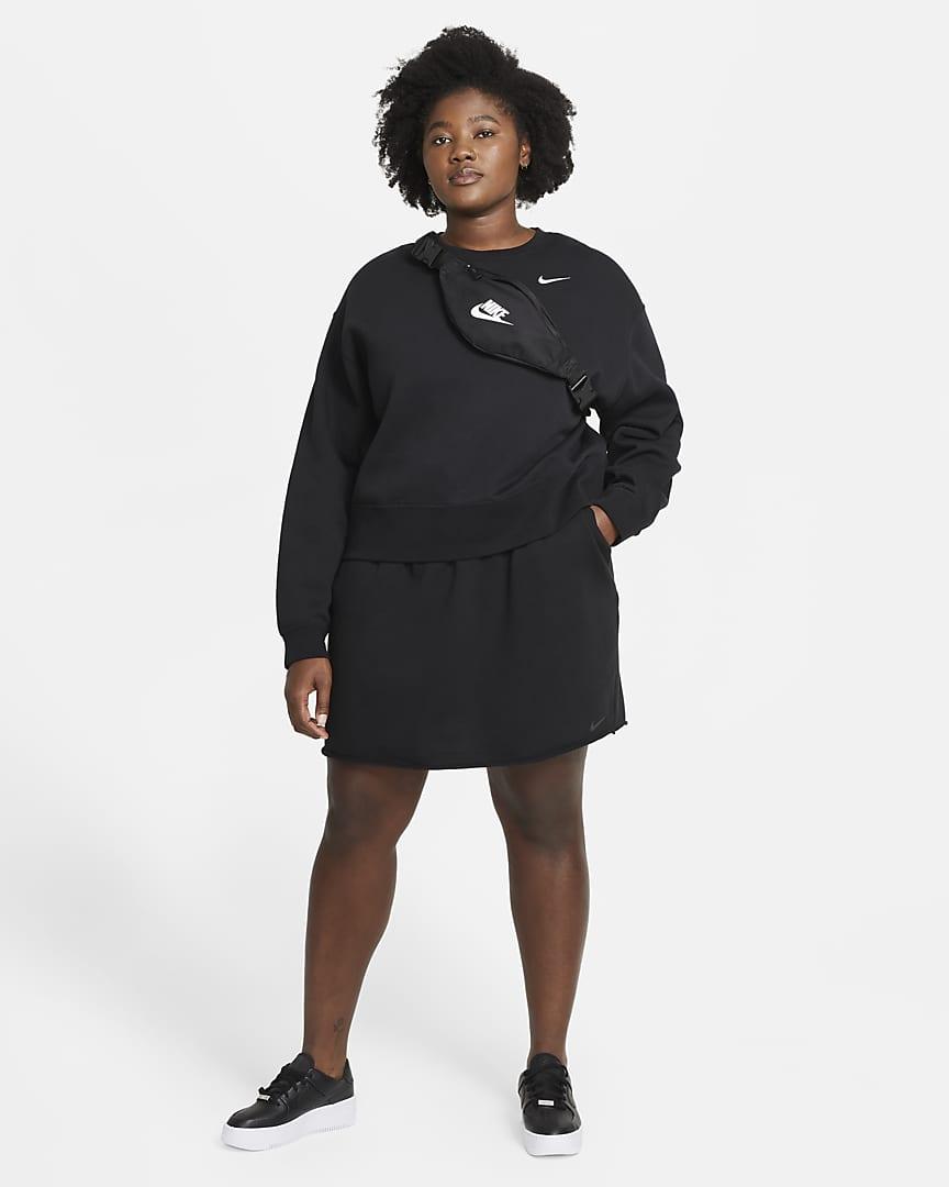 Nike Sportswear Icon Clash Women\'s Skirt (Plus Size) Black/Dark Smoke Grey