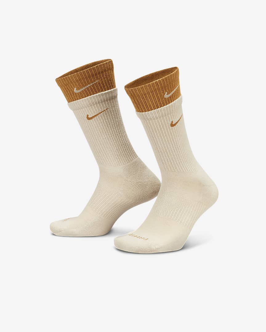 Nike Everyday Plus Cushioned Training Crew Socks Rattan/Wheat/Wheat