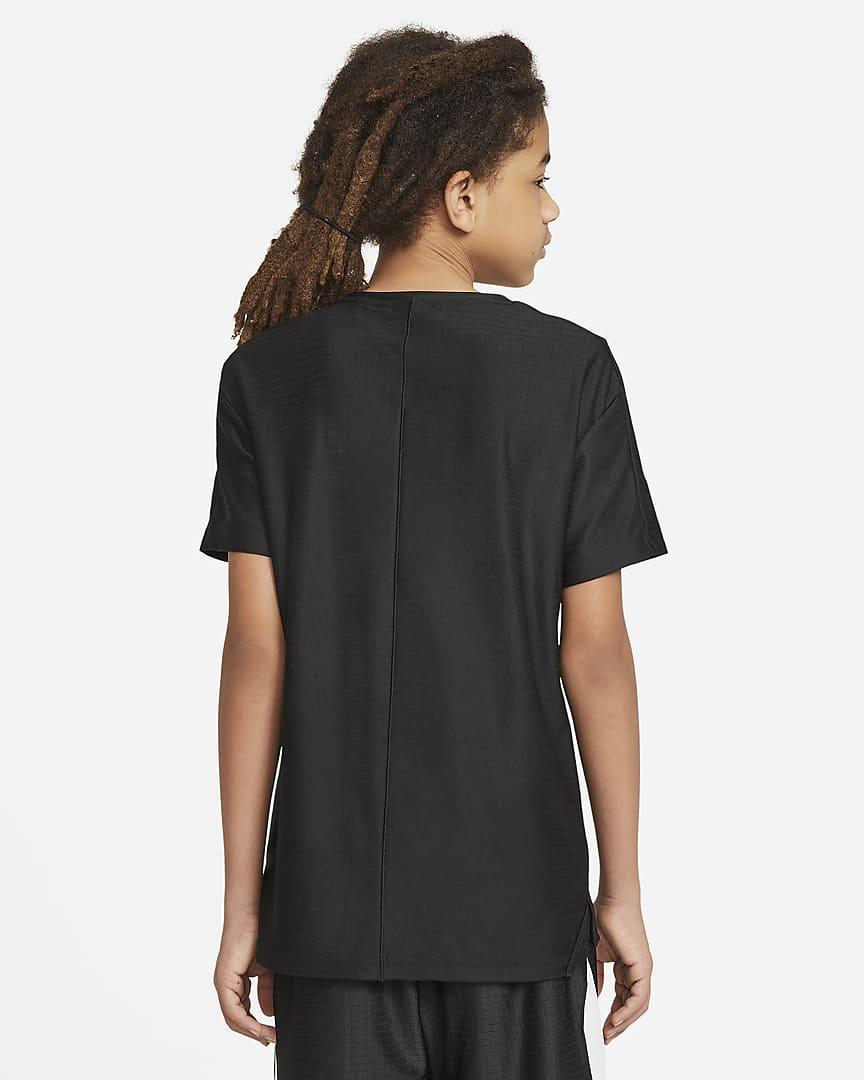 Nike Big Kids\' (Boys\') Graphic Short-Sleeve Training Top Black