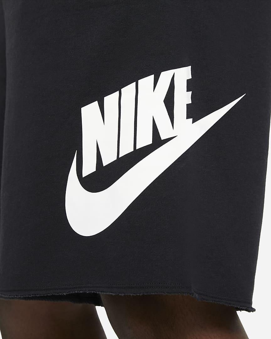Nike Sportswear Alumni Men\'s French Terry Shorts Black/Black/White/White