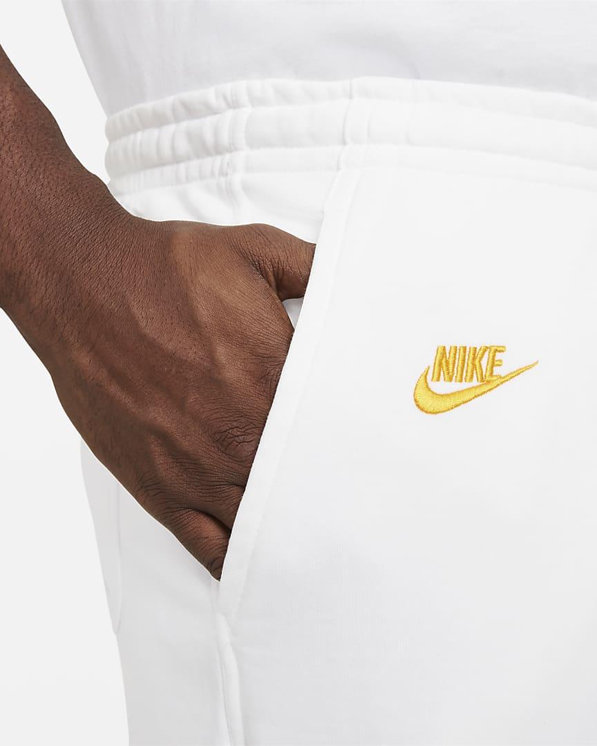 Nike Sportswear Essentials+ Men\'s French Terry Shorts White/White