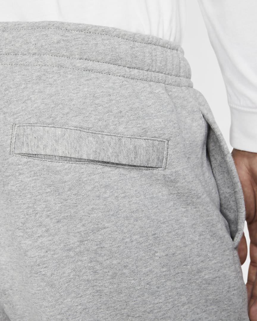 Nike Sportswear Club Fleece Men\'s Pants Dark Grey Heather/Matte Silver/White