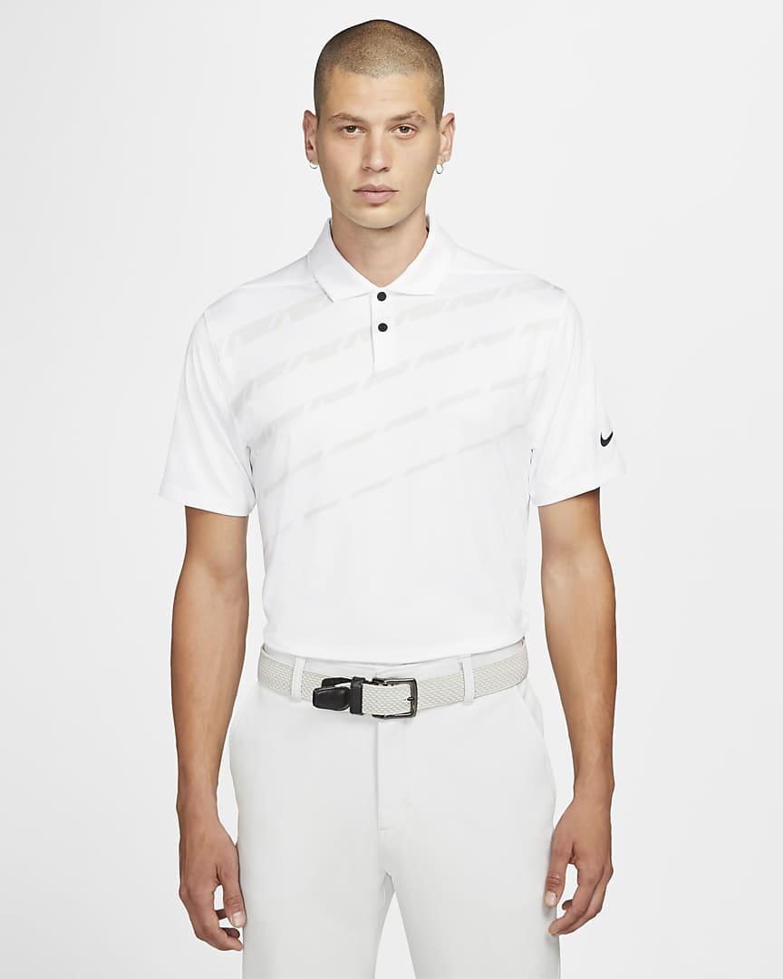 Nike Dri-FIT Vapor Men\'s Graphic Golf Polo White/Photon Dust/Black