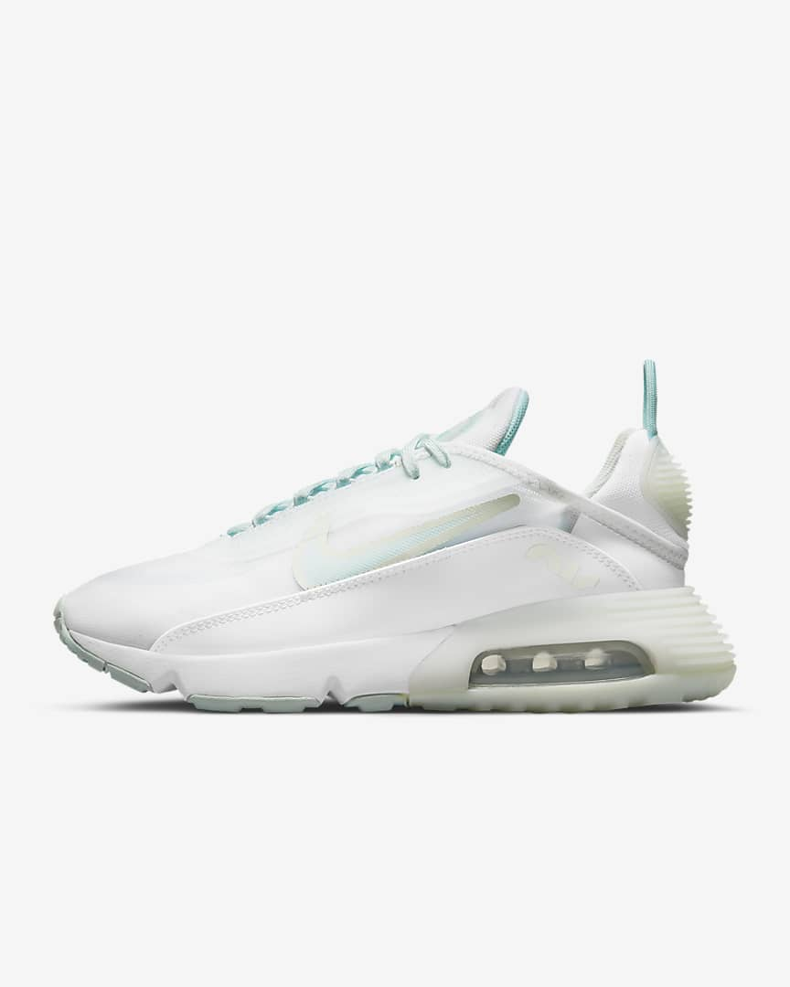 Nike Air Max 2090 Women\'s Shoes White/Barely Green/Metallic Silver/Light Dew