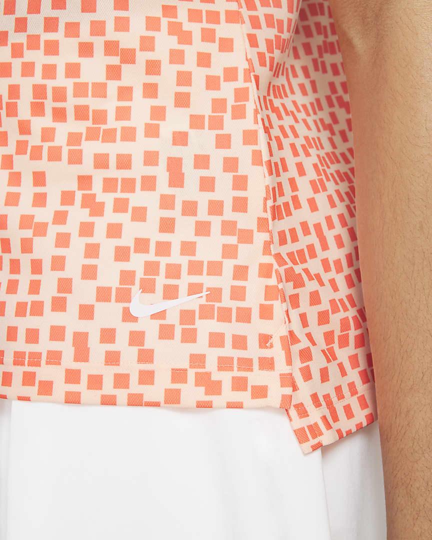 Nike Dri-FIT Women\'s Printed Golf Polo Crimson Tint/White
