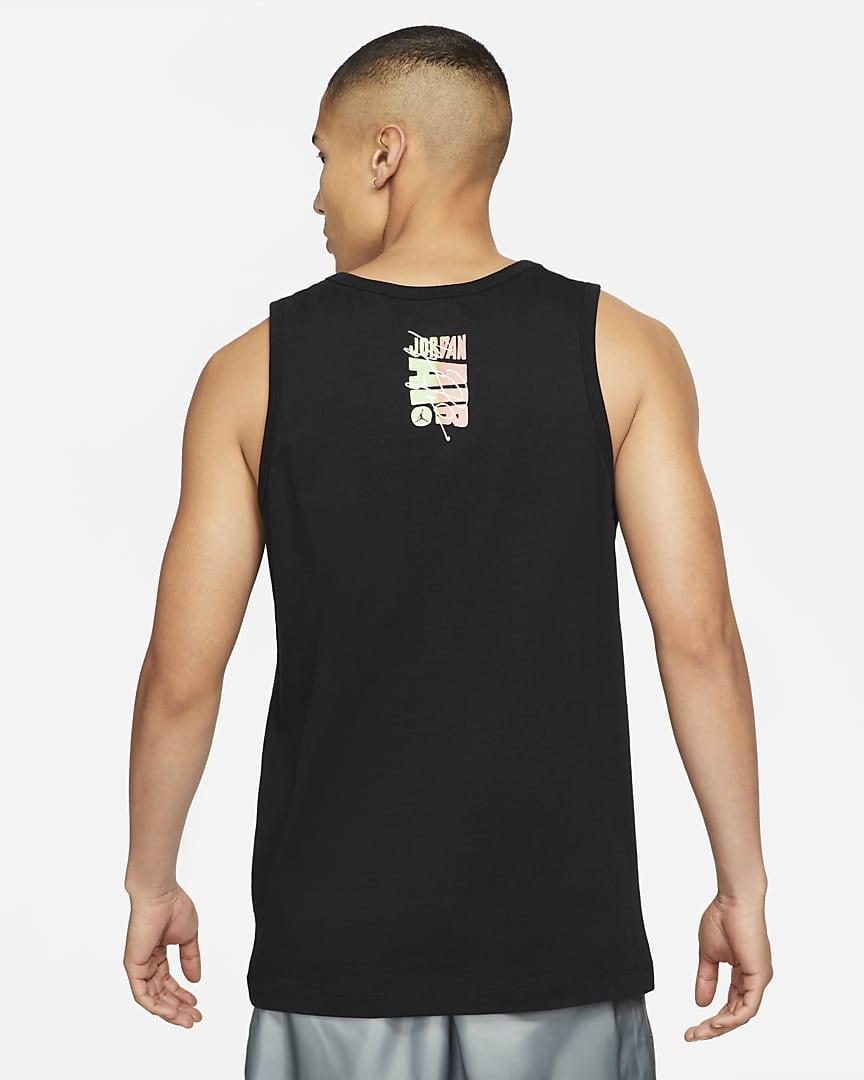 Jordan Sport DNA Men\'s Tank Black/Sunset Pulse
