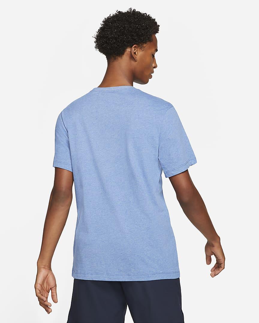 Nike Dri-FIT Men's Swoosh Training T-Shirt Light Game Royal Heather