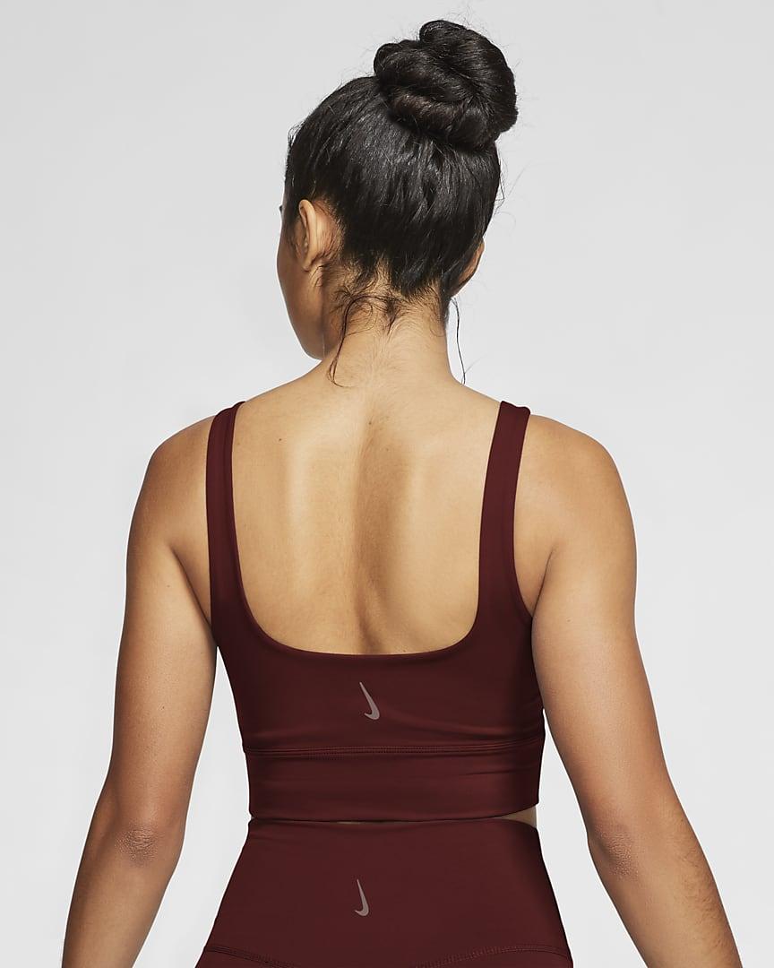Nike Yoga Luxe Women\'s Infinalon Crop Top Bronze Eclipse/Smokey Mauve