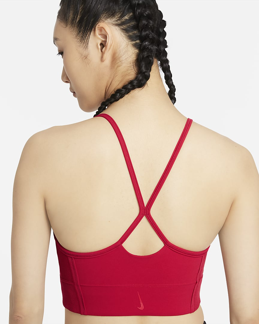 Nike Yoga Dri-FIT Indy Women's Light-Support Padded Longline Sports Bra Gym Red/University Red