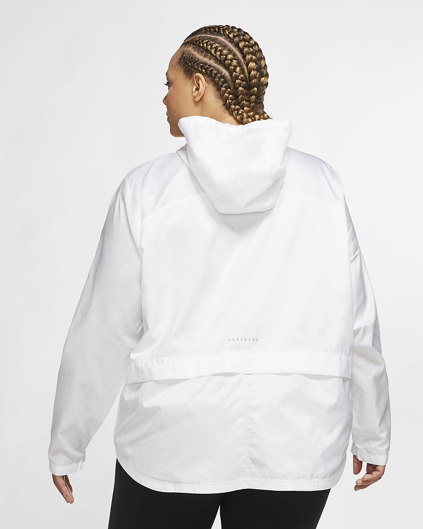 Nike Essential Women\'s Running Jacket (Plus Size) White