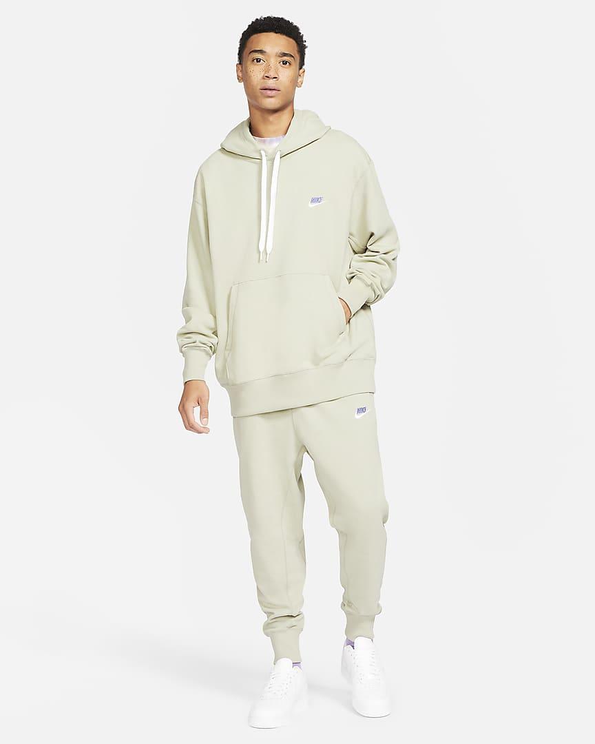 Nike Sportswear Men\'s Classic Fleece Pants Stone