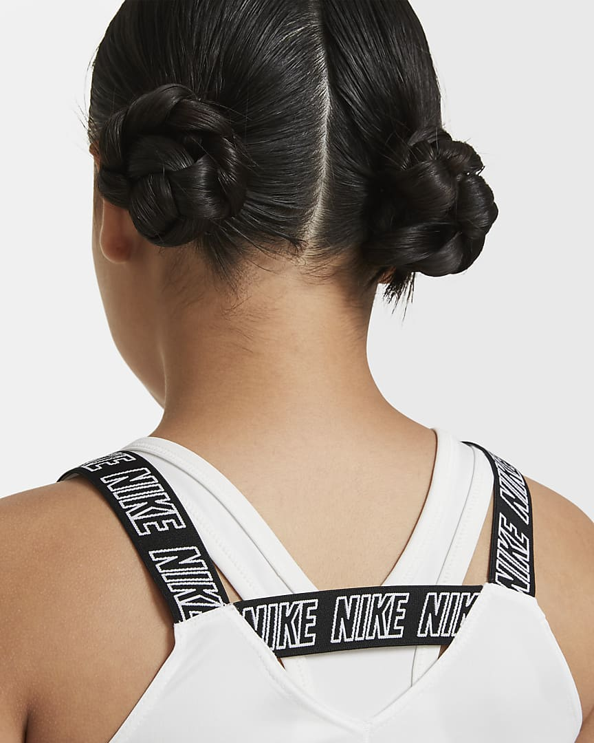 Nike Dri-FIT Big Kids\' (Girls\') Training Tank White/Black