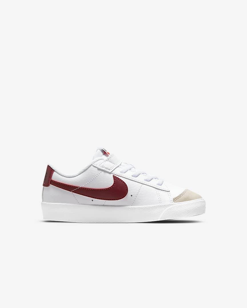 Nike Blazer Low \'77 Little Kids\' Shoes White/White/Black/Team Red