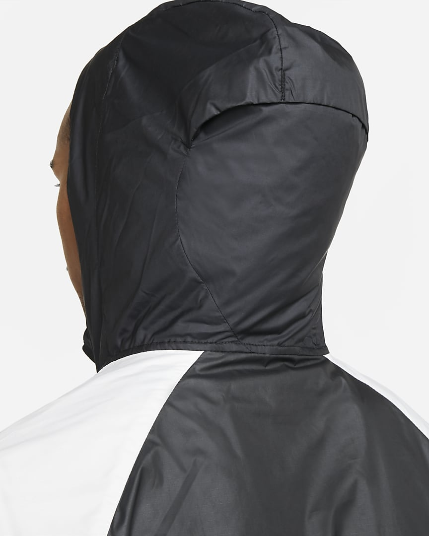 Nike Windrunner Men\'s Trail Running Jacket Black/Dark Smoke Grey/White/White