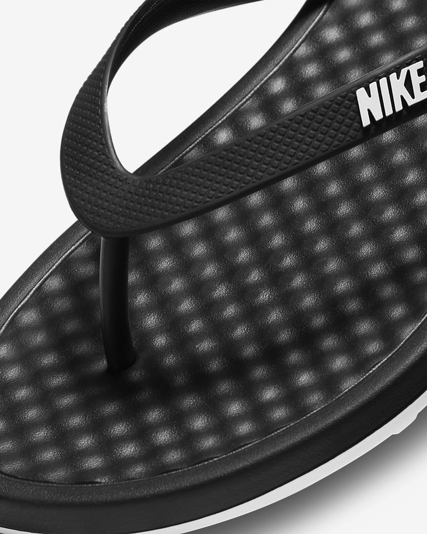 Nike On Deck Women\'s Flip Flop Black/Black/White