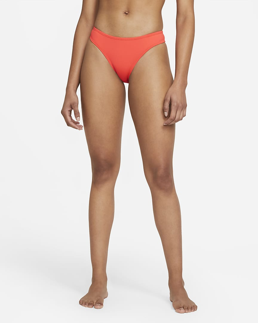 Nike Essential Women\'s Cheeky Swim Bottom Bright Crimson