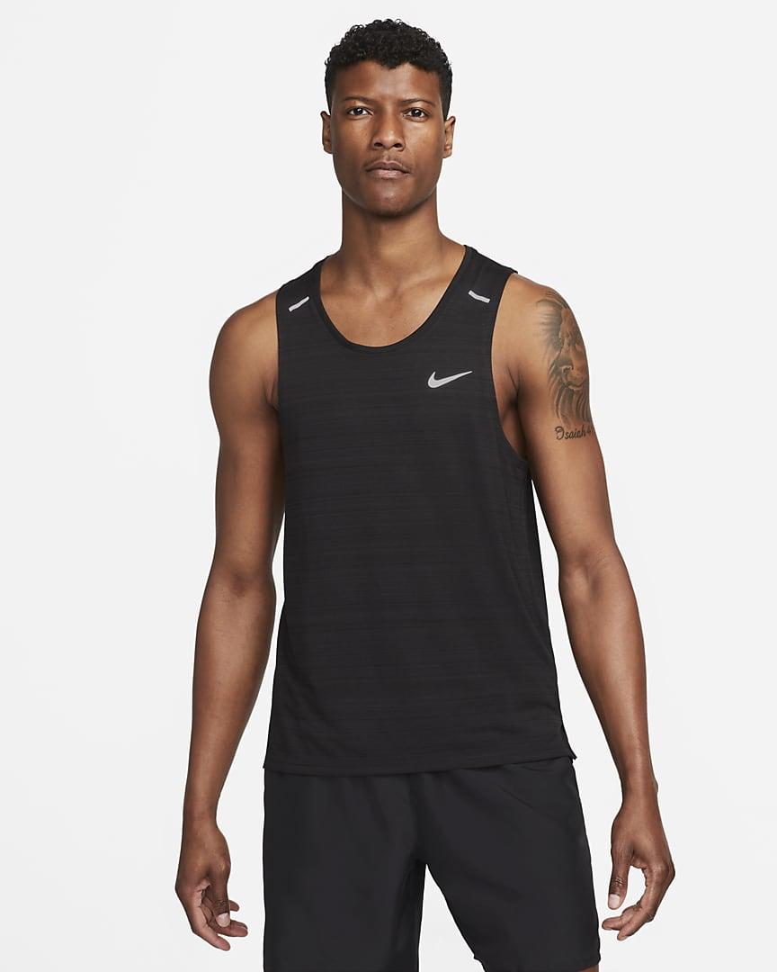 Nike Dri-FIT Miler Men\'s Running Tank Black