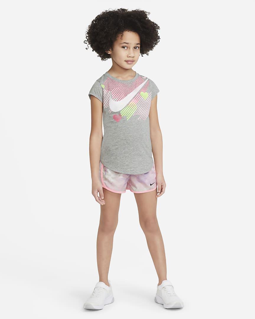 Nike Dri-FIT Tempo Little Kids\' Tie-Dye Shorts Purple Chalk