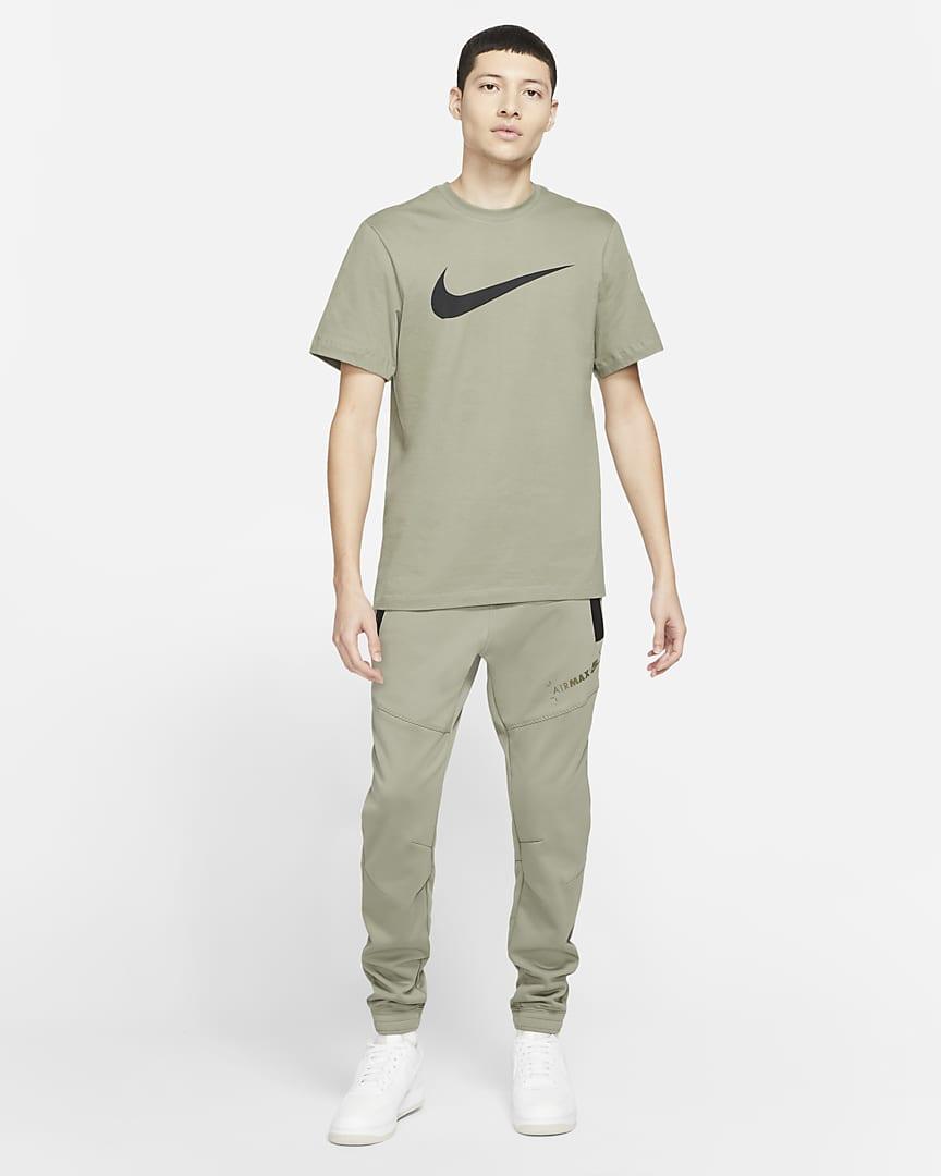 Nike Sportswear Swoosh Men\'s T-Shirt Light Army/Black