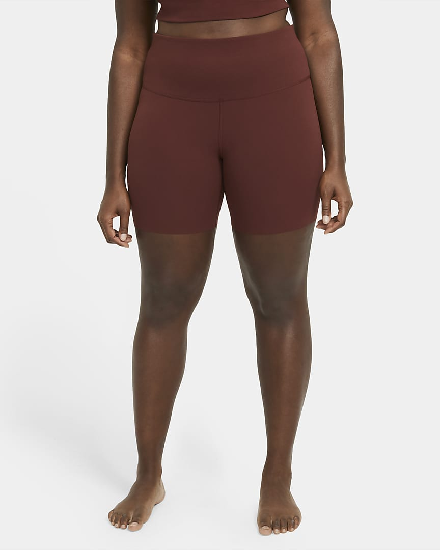 Nike Yoga Luxe Women\'s Shorts (Plus Size) Bronze Eclipse/Smokey Mauve