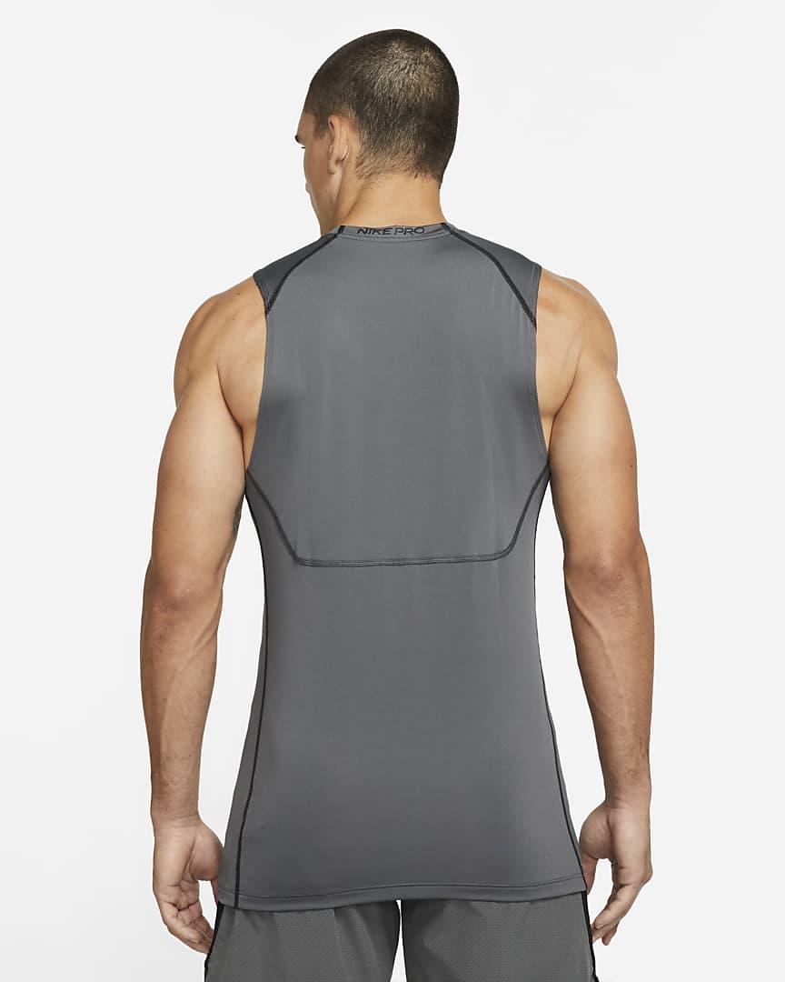 Nike Pro Dri-FIT Men\'s Slim Fit Sleeveless Top Iron Grey/Black/Black
