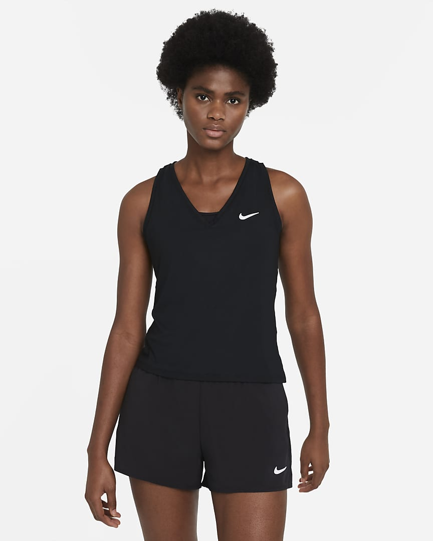 NikeCourt Victory Women\'s Tennis Tank Black/White