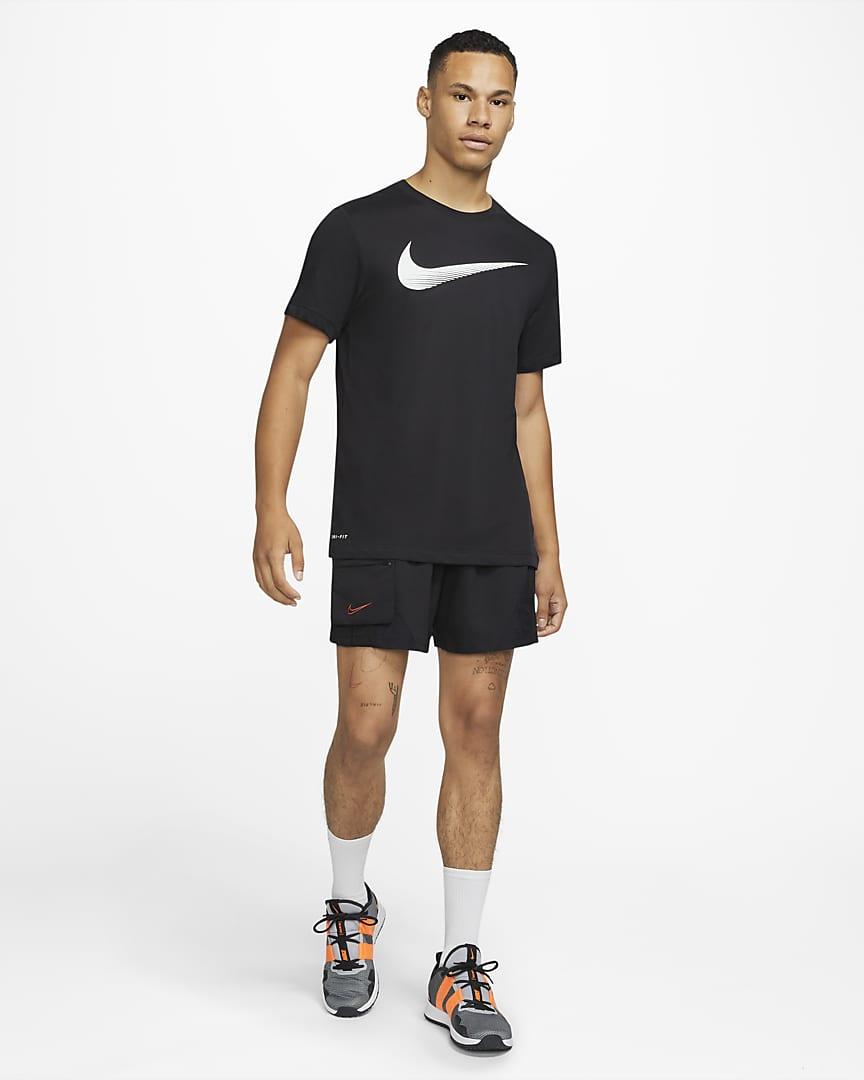 Nike Dri-FIT Men's Swoosh Training T-Shirt Black