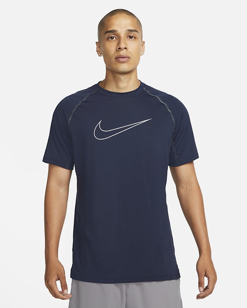 Nike Pro Dri-FIT Men\'s Slim Fit Short-Sleeve Top Obsidian/Iron Purple/Iron Purple