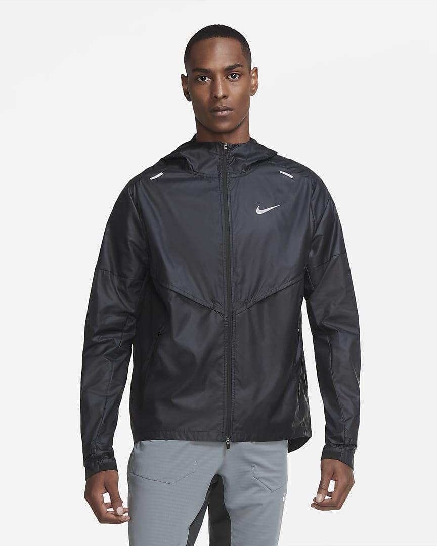 Nike Shieldrunner Men\'s Running Jacket Black/Black