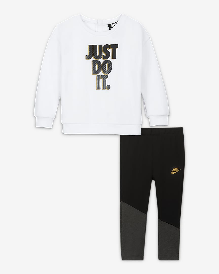 Nike Baby (12-24M) Crew and Leggings Set Black