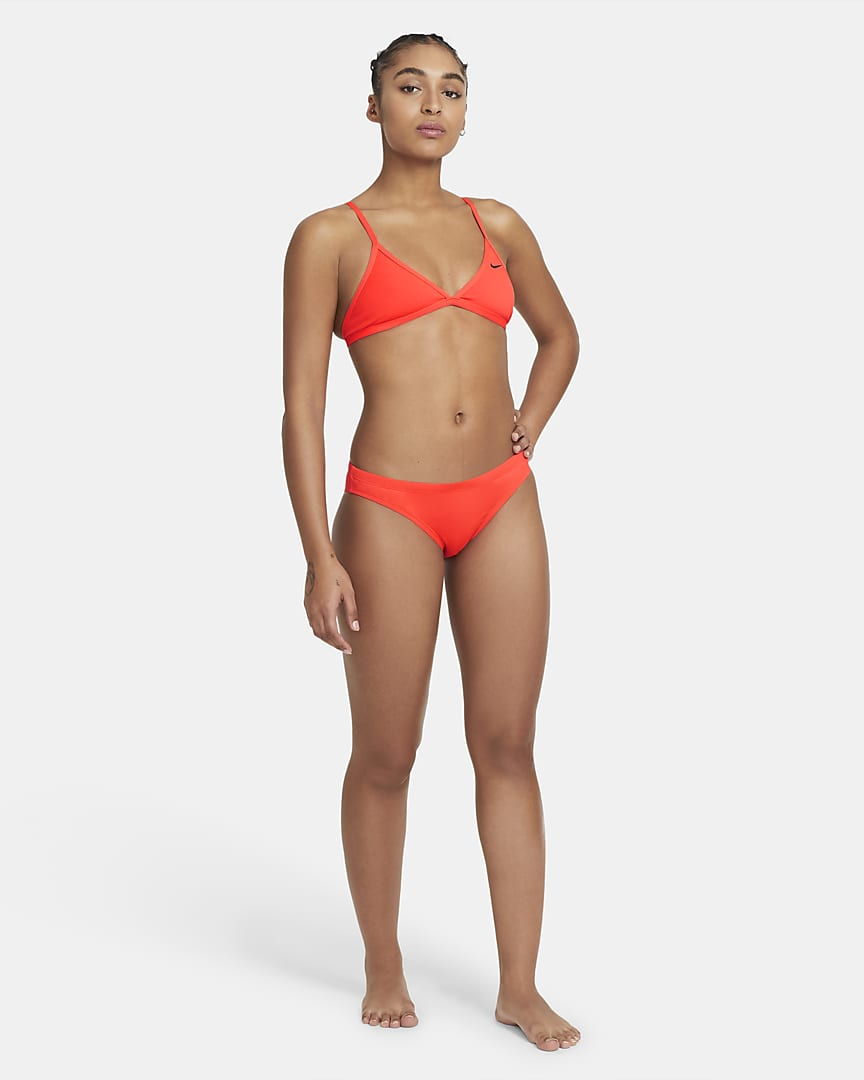 Nike Bikini Women\'s Swim Bottoms Bright Crimson