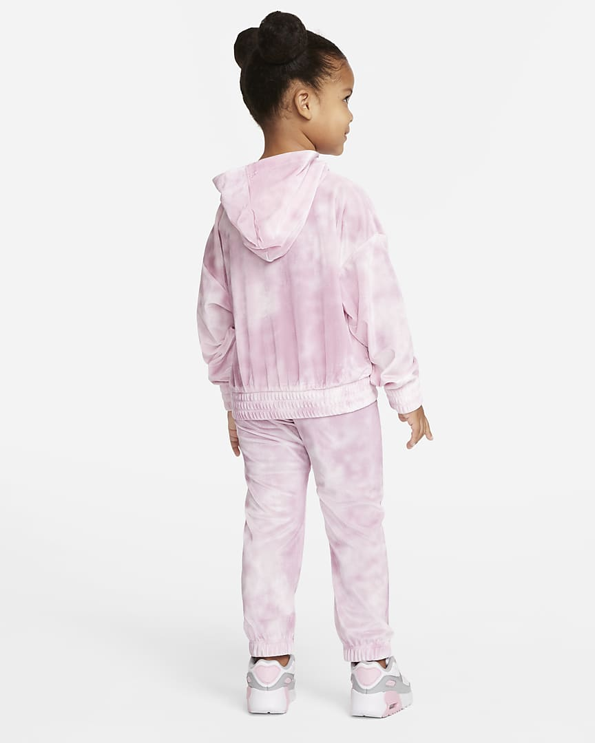 Nike Toddler Hoodie and Pants Set Pink Foam