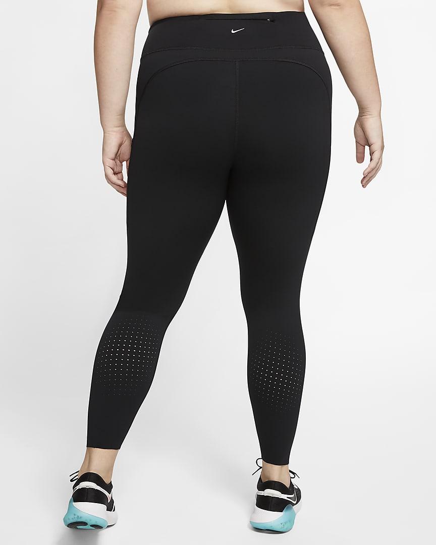 Nike Epic Luxe Women\'s Mid-Rise Pocket Running Leggings (Plus Size) Black